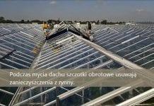 Czysty dach szklarni z Top Cleaner