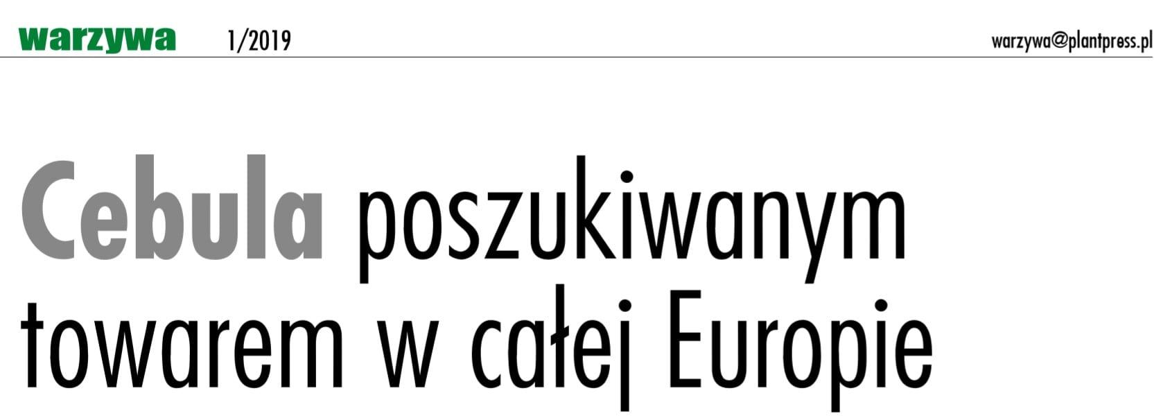 Cebula puszkiwana w całej Europie - zapowiedź.