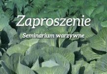 Seminarium warzywnicze w Charsznicy